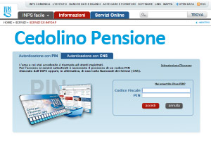 cedolino pensione inps